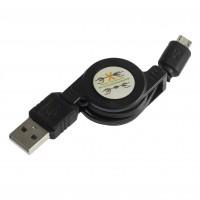 Cablu USB AM-micro Retractabil