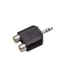 Adaptor Jack 3,5 stereo-2 RCA mamă