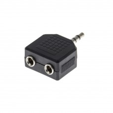 Adaptor Jack 3,5 stereo-2*3,5 stereo