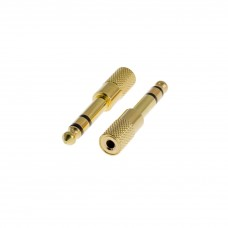 Adaptor Jack 6,3 stereo-Jack 3,5 stereo gold