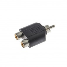 Adaptor RCA tată-2 RCA mamă
