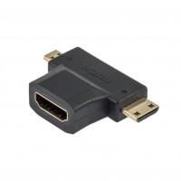 Adaptor HDMI M-mini HDMI T-micro HDMI T