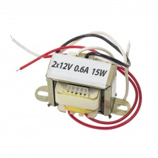 Transformator rețea 2*12V 0,6A 15W