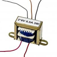 Transformator rețea 2*6V 0,5A 3W