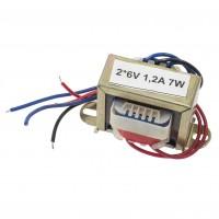 Transformator rețea 2*6V 1,2A 7W