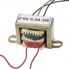 Transformator rețea 2*9V 0,3A 3W